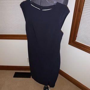 Dark Navy Blue Fitted Dress 4